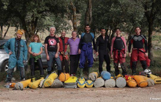 Sector 2º Cueva de Chorros, Espeleuka, topografía y buceo en Río Blanco,12-10-2019.
